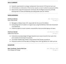 Daycare Resume Simple Additional Skills For Child Care Resume Sample Awesome Download