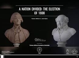 Jefferson Vs Hamilton Venn Diagram Election Of 1800 Thomas Jeffersons Monticello