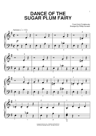 dance of the sugar plum fairy sheet music the nutcracker dance of the sugar plum fairy sheet music for