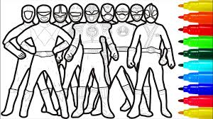 Our free coloring pages for adults and kids, range from star wars to mickey mouse. Power Rangers Coloring Pages Youtube