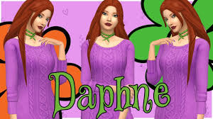 The Sims 4: Create-a-sim // Daphne Blake // Scooby Doo! - YouTube