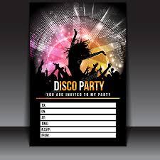 Childrens Disco Invitations 20 X Disco Party Invitations Invites Kids Child Adult Girls