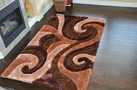 Luxury Cool Design Abstract Shag Rugs Brownhome Furnishings Ideas