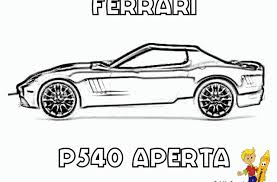 Workhorse Ferrari Coloring Pages Free Car For Boys Pictures To