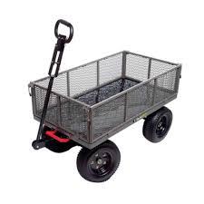 garden cart. Gorilla Carts 1,200 Lb. Steel Multi-Use Dump Cart Garden