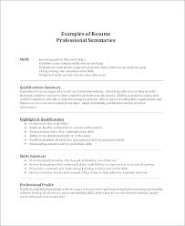 qualifications in cv example summary example for resume resume summary of qualifications sample q