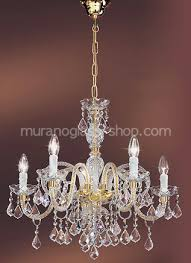 5 lights crystal chandelier at five lights