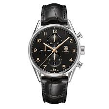 tag heuer carrera men s black strap watch ernest jones tag heuer carrera men s black strap watch product number 9520066