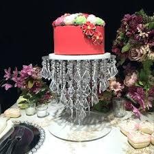 hanging cake wedding cake stand with crystal hanging beads silver round crystal cake stand hanging cake