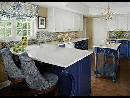 two tone blue and white kitchen cabinet ideas featuring white countertop and nice window dry
