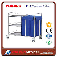 China <b>Hot Selling Stainless Steel</b> Treatment Trolley Hf-16 with Low ...