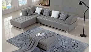 star grey leather sectional set