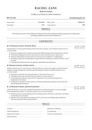 12 Business Analyst Resume Sample S 2018 Free Downloads