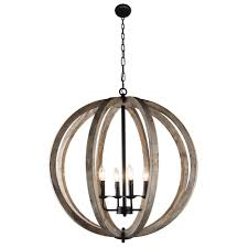 stanton light candle style wood frame orb foyer