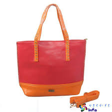Red Coach Stud North South Large Totes
