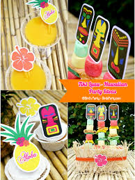 Diy Party Printables Hawaiian Tiki Luau Diy Party Ideas Free Printables Party