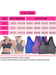 Walmart Sports Bra Size Chart Lelinta Womens Sports Bra Racerback Padded Stretch Fitness