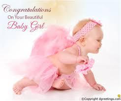 Beautiful Baby Girl Baby Girl Congratulations Cards