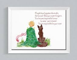 the little prince fox e inspirational e le petit prince fox the little prince art prince room decor baby room baby shower gift
