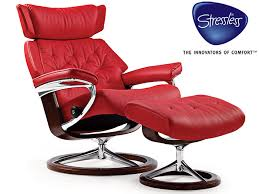 Stressless Skyline Recliner and stool in Batick Leather Furniture