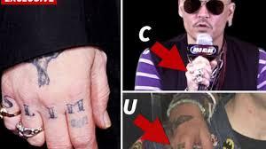 джонни депп отомстил бывшей жене татуировкой опубликовано фото