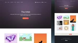 Art Portfolio Website Design Artist Portfolio Website Makar Bwong Co