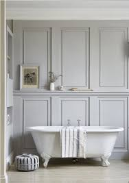 grey wall tile alternative using classic white clawfoot tub for best victorian bathroom ideas with beige laminate floor design