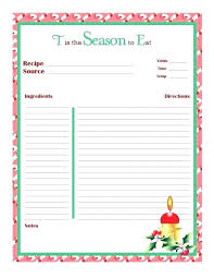 Recipe Card Templates Free Free Printable Recipe Cards For Bridal Shower Card Template