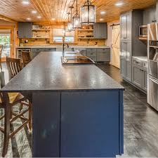 Cabin kitchen design Mountain Cabin Canadian Log Homes Kitchen Design And Remodel Project Rustic Chic Log Cabin