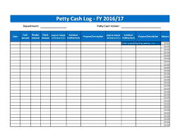 Download Petty Cash Log Style 68 Template For Free At