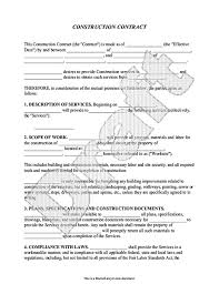 Contractor Confidentiality Agreements Cool Construction Contract Template Contractor Agreement