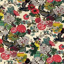 schumacher fabric chiang mai dragon alabaster 173273 exuberant prints linen h v 54 my fabric connection