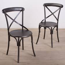 black metal bistro style dining chairs with x backs trendy designs of black metal dining