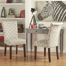 inspire q catherine moroccan pattern fabric parsons dining chair set of 2 172