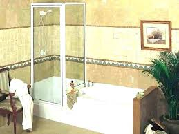 drop in tub shower combo small corner vintage tiled with niche b ovation drop in tub shower