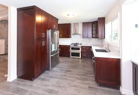kitchen floor cabinets cherry kitchen cabinets with gray wall and quartz ideas ikea kitchen floor to