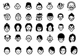 無料商用利用可能で300万通り以上の表情を作り出せる顔アイコン素材