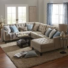 Delighful Sectional Sofas Build Your Own Nyle Stone Gray Collection In Inspiration Decorating