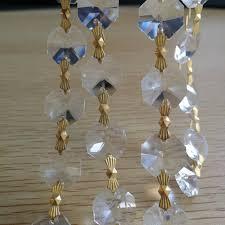 14mm 10meters garland diamond strand glass crystal bead wedding party decor crystal garland crystal garland