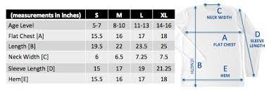Length Measurement Chart For Kids Kids Shirt Sizes Shark Zen
