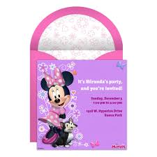 Free Minnie Mouse Birthday Invitations Minnie Mouse Party Online Invitation Disney Family