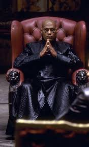 morpheus laurence fishburne in his red leather chair