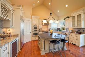 outstanding track lighting for vaulted kitchen ceiling and island