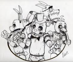 A Draw Of Characters Five Nights At Freddys Doe Dingen