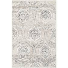 safavieh carnegie light gray cream 4 ft x 6 ft area rug