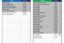 Homework Calendar Excel Excel Template Mba Excel Homework Tracker