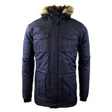 mens winter coat by brave soul canadian hooded parka jacket sizes s l