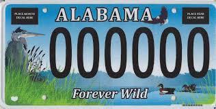 distinctive license plates all vehicles alabama department of revenue