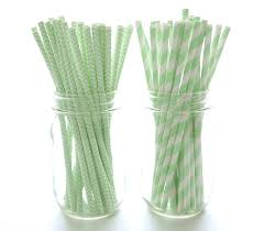 Amazon Com Mint Green Paper Straws Fun Birthday Party Straws