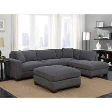 mitch fabric sectional with ottoman